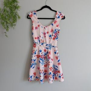 (Candies) Pink Floral Mini Summer Dress Small